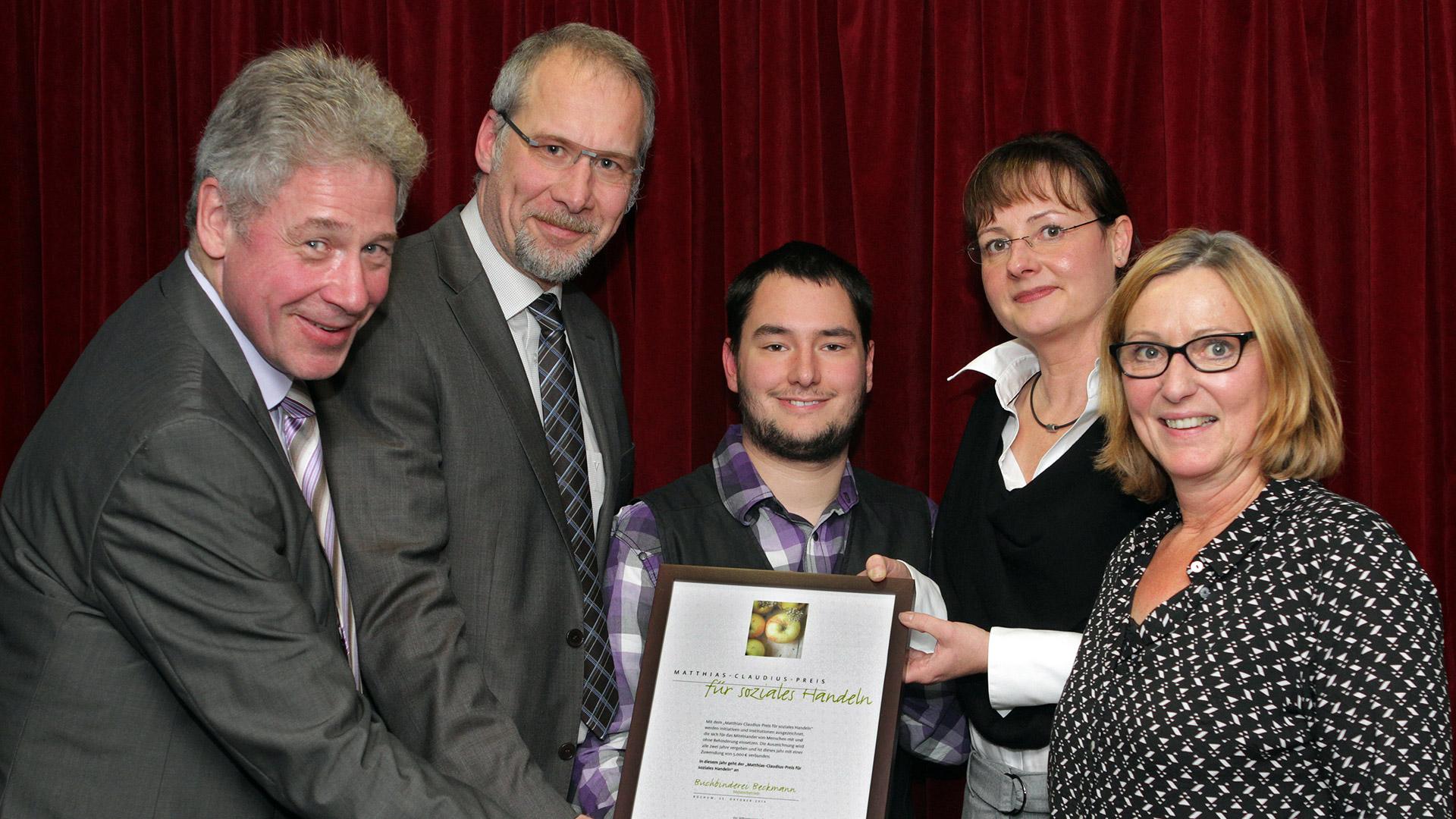 Auszeichnung mit dem Matthias-Claudius-Preis